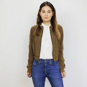 Rachael Roy Satin Bomber Jacket